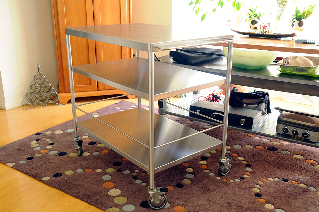 IKEA FLYTTA Stainless Steel Cart   RainyDayMagazine