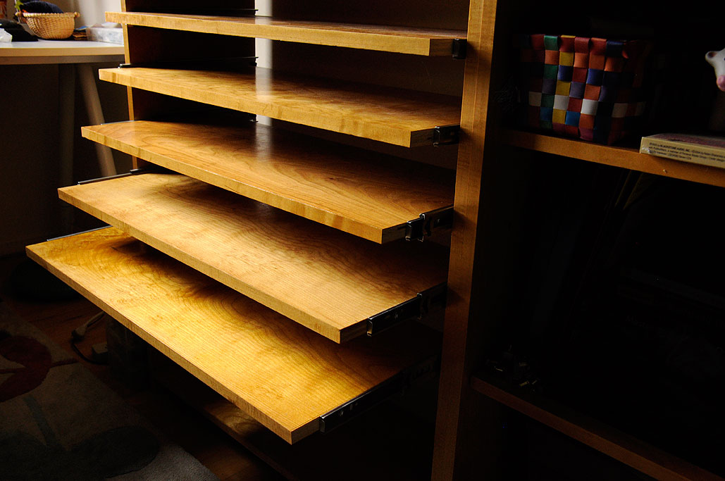 Nice Shelves modular shelves Six Sliding Shelves Were Installed In This First Effort The Nice Thing About This Approach Is That The Shelves May Be