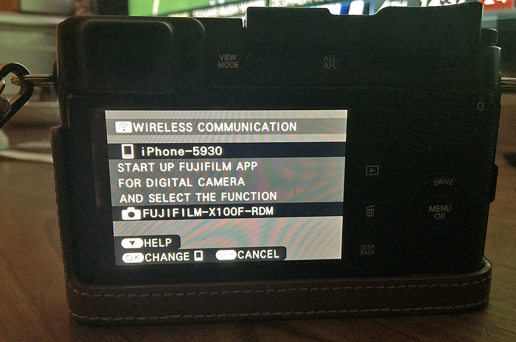 Fujifilm X100F : Remote Control FirstLook/FirstUse